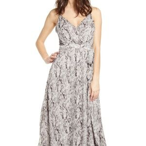 ASTR The Label Snake Print Maxi dress